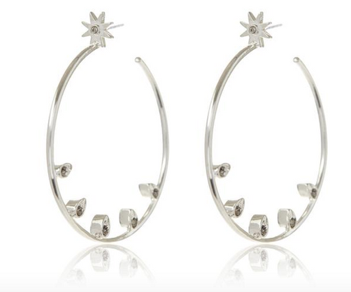 Posie Pavé Statement Hoops | Silver ox