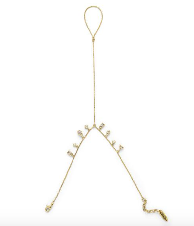 Hanging Gem Handpiece | Antique Gold