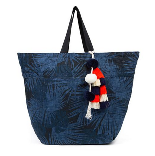 Aloha Beach Tote | Indigo & Orange