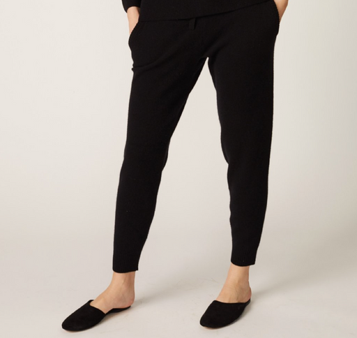 Cashmere Sporty Sweats | Black