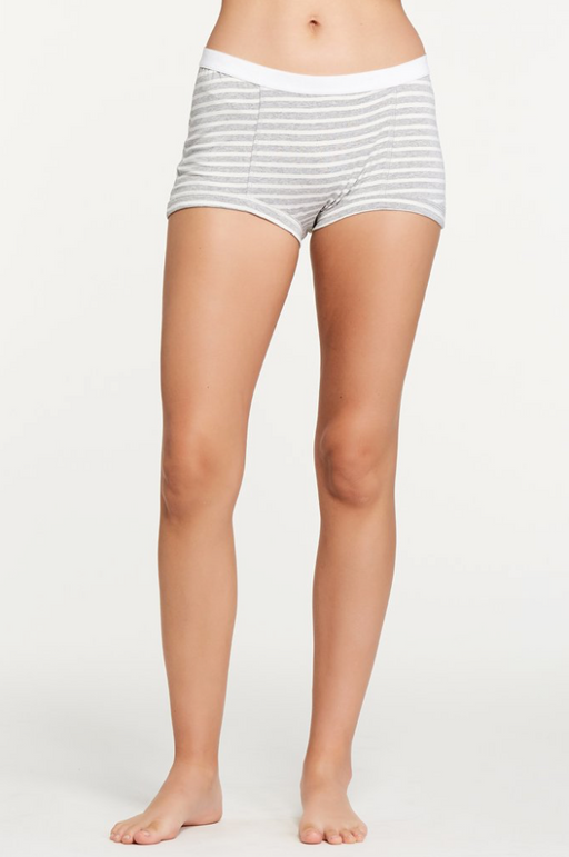 Peony Short | Heather Grey Stripe