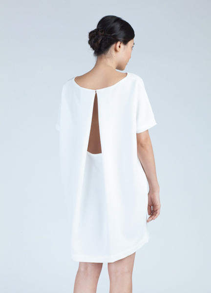Angle Mini Dress | White