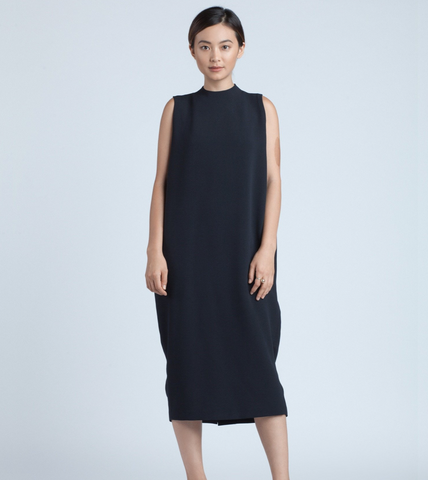 9e60cace5 Dill High Collar Dress | Black Blue