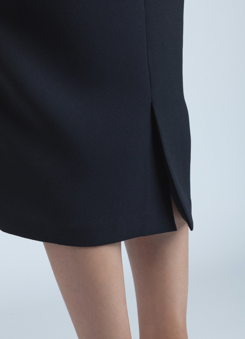 Dill High Collar Dress | Black Blue