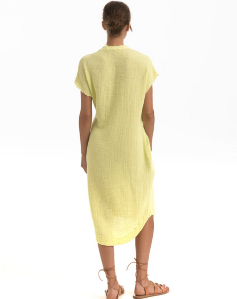 CUSP DRESS | CITRINE COTTON MESH