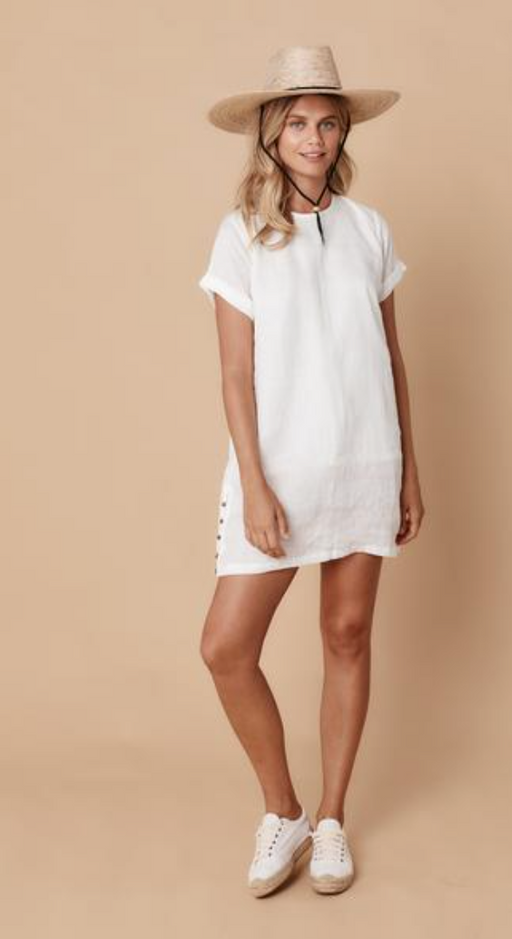 Cuban Dress | White Linen