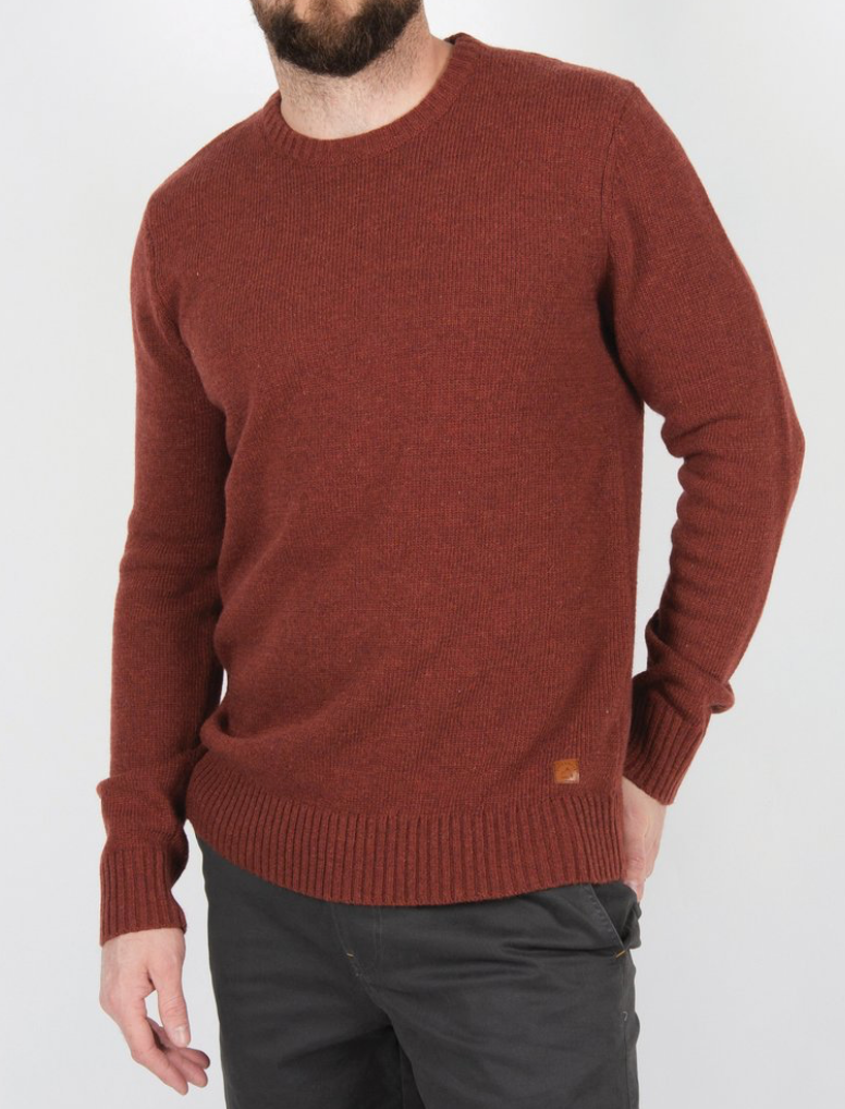 Wagon Knitted Sweater | Orange