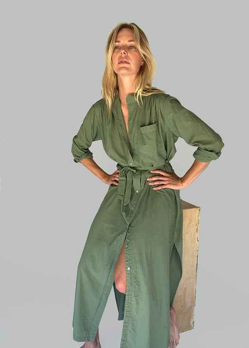Shirt Dress| Army Green