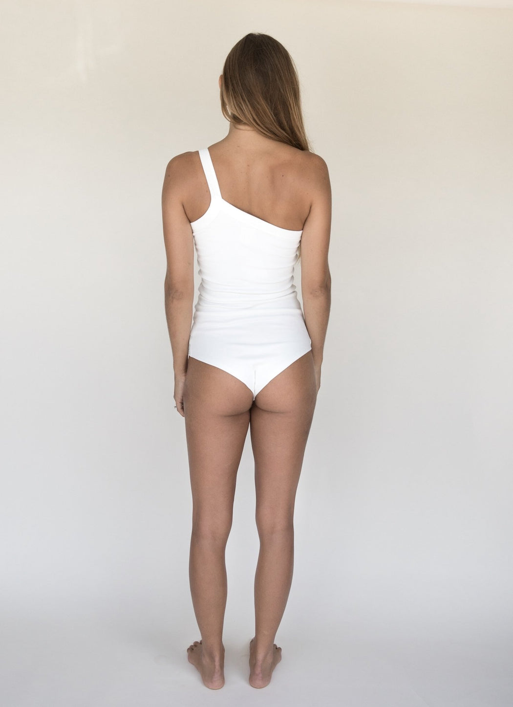 Women's One Strap Bodysuit | White