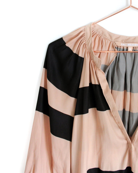 THE MOROCCAN TOP x SILK STRIPE