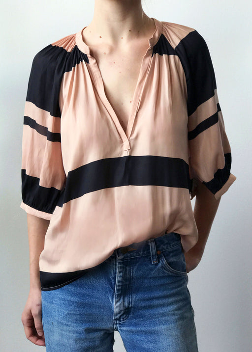 The Moroccan Top | Silk Stripe