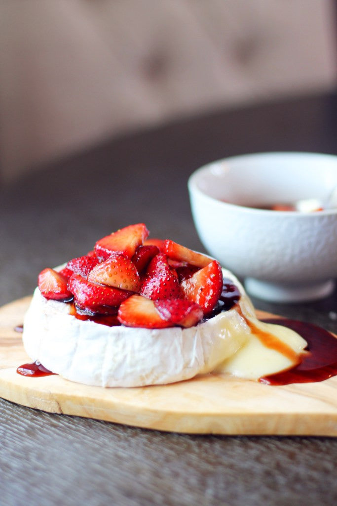 Camembert with Balsamic Macerated Strawberries