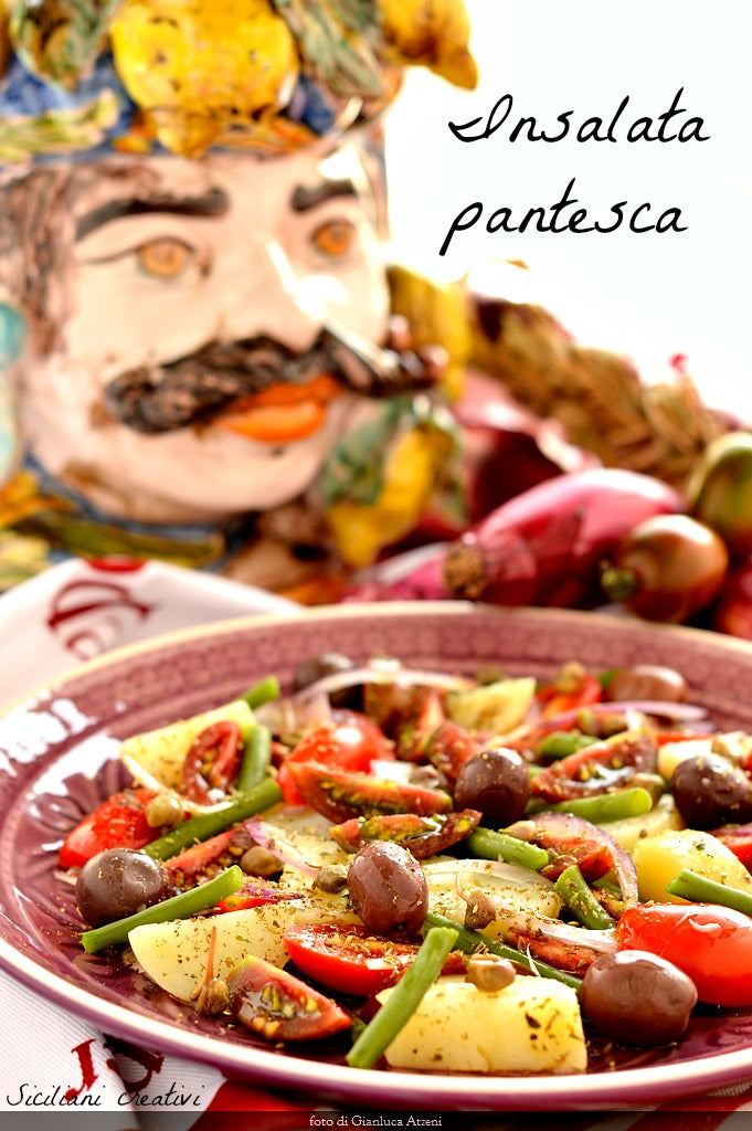 Pantesca (Sicilian Summer Salad) with Green Beans & Rosé Wine Vinegar