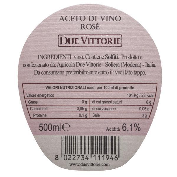 Due Vittorie Rosé Wine Vinegar