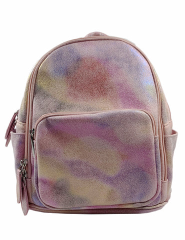 Bari Lynn Mini Backpack- Iridescent Pink