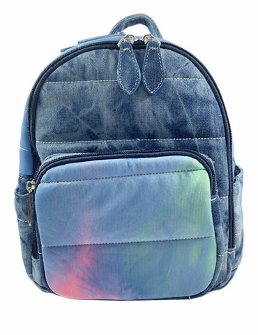 Bari Lynn Mini Backpack- Neon Tie Dye