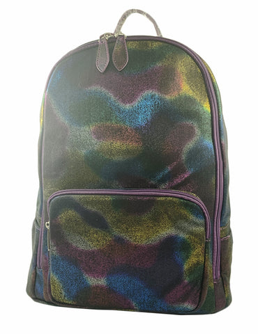 Bari Lynn Full Size Backpack- Iridescent Purple