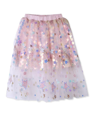 Skirt with Sequin Sparkle