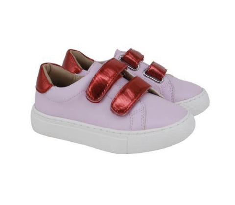 Pink/Red Leather Sneaker