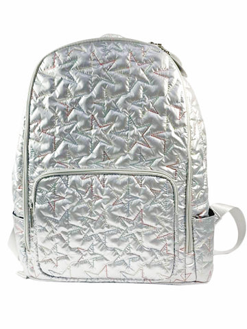 Bari Lynn Full Size Backpack- Silver Stars