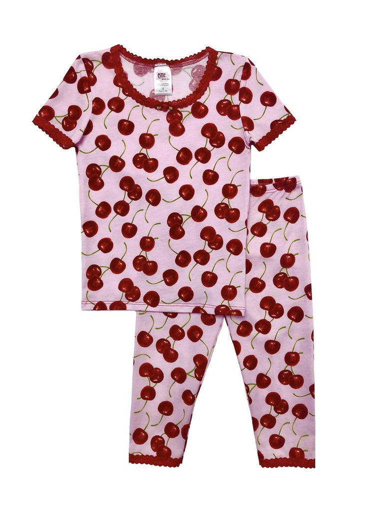 Cherries Short Sleeve Legging Set