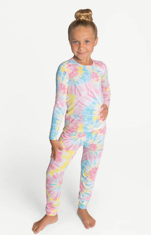 Cotton Candy Tie Dye Pajama Set