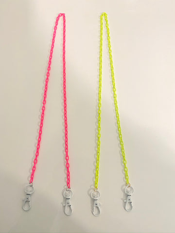 Kids Pink & Yellow Mask Chains