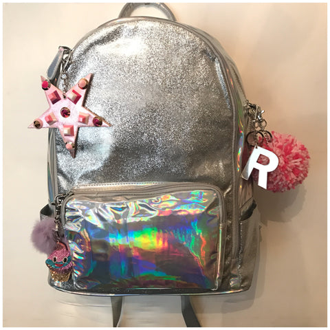 Full Size Silver Glitter/Hologram Backpack