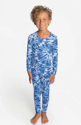 Blue Spiral Pajama Set