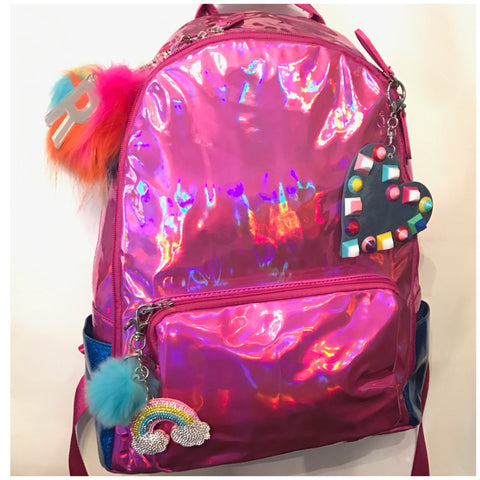 Full Size Fuchsia/Royal Blue Backpack