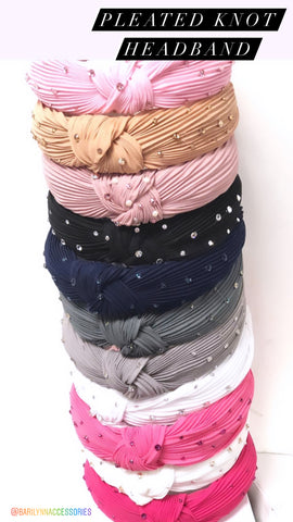 Pleated Knot Headbands