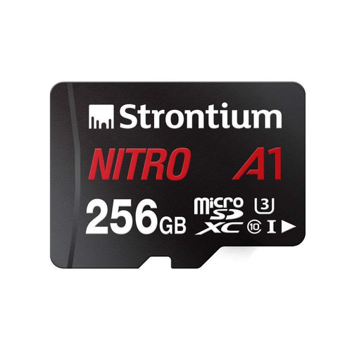 STRONTIUM 256GB Nitro A1 100 mb/s Card, U3 for 4K video