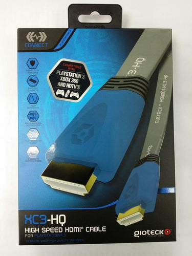 PS3 GIOTECK HIGH SPEED HDMI CABLE XC3-HQ