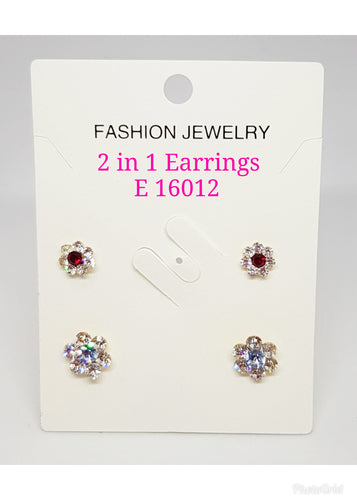 2 in 1 Earring (1) - E 16012