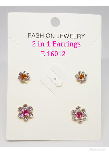 2 in 1 Earring (2) - E 16012