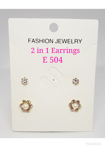 2 in 1 Earrings - E 504