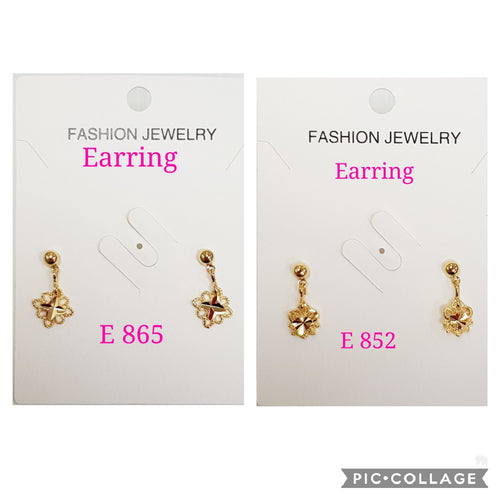 2 in 1 dangling earrings- E 865/E 852