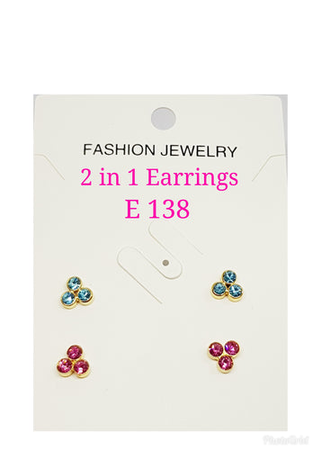 2 in One Earring - E 138