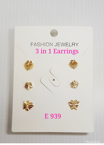 3 in 1 Earrings - E 939