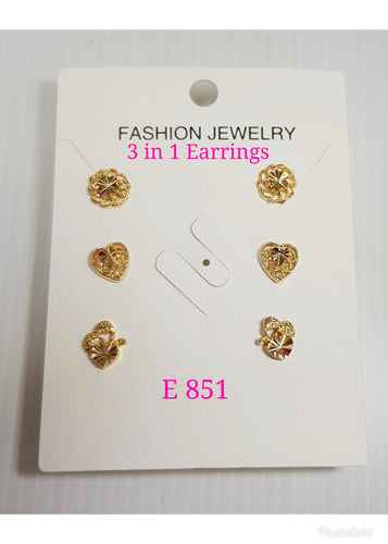 3 in 1 Earrings - E 851