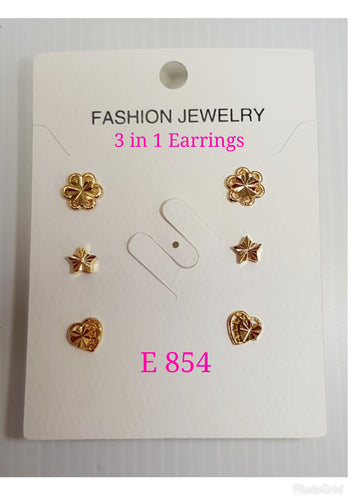 3 in 1 Earrings - E 854