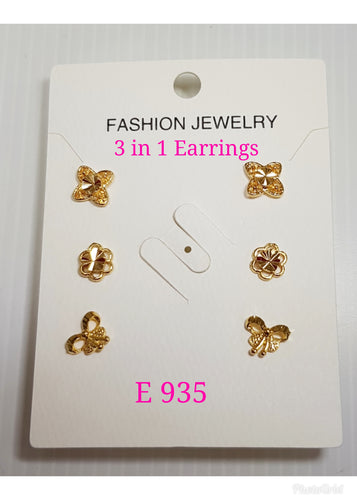 3 in 1 Earrings - E 935