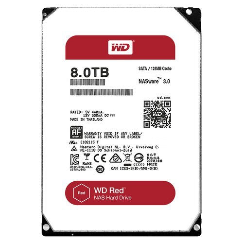 "Western Digital  3.5"" Int HDD 8TB (Red)"