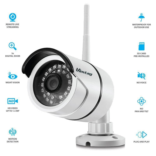 VIMTAG OUTDOOR CLOUD IP CAMERA FOCUS 1920x1080 FHD