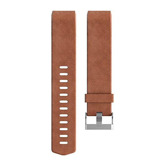 Charge 2 Accessory Band Leather Brown - Large
