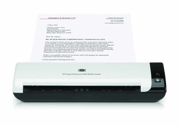 HP Scanjet Pro 1000 Mobile Sheetfeed Scanner