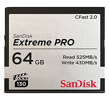 SanDisk Extreme Pro CFast 2.0 64GB Memory Card