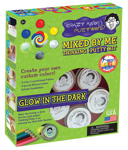Mixed By Me Kit Glow in the Dark Crazy Aron's Thinking Putty