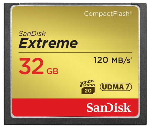 Sandisk 32GB Extreme CompactFlash CF Card 120MB/s