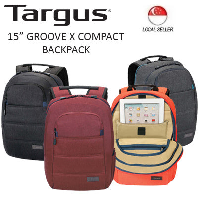 "Targus 15"" Groove X Compact Backpack for MacBook (Charcoal)"